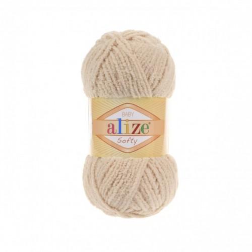 Пряжа Alize Softy,цв- беж,50 гр