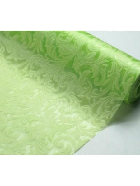 Фетр с тиснением(3D фетр),салатовый,рис.Ирис , цена за 1 метр