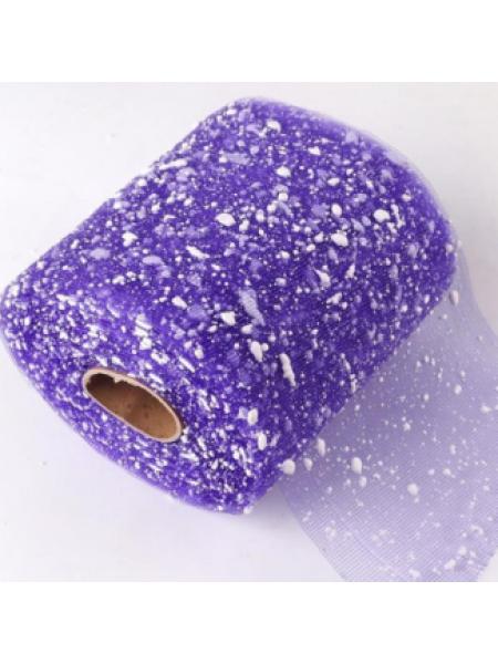 Сетка-снег, цв-фиолетовый,15 см,цена за 1 м