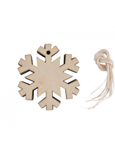 Заготовка для ёлочной игрушки-Снежинка с верёвочкой, 80мм