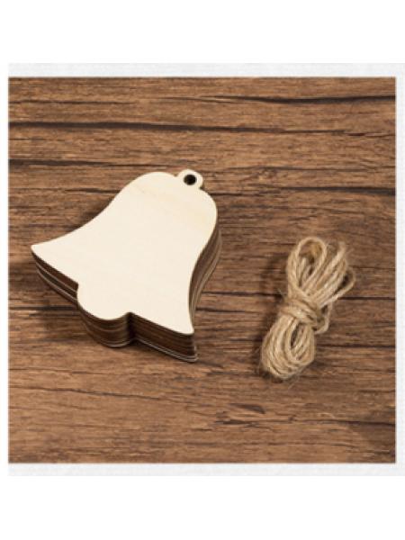 Заготовка для ёлочной игрушки-Колокольчик с верёвочкой, 80*85мм
