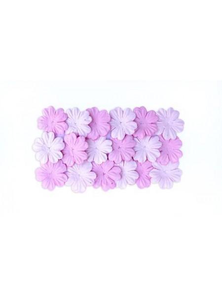 Набор цветков из шелковичной бумаги,цв-светло-розовый/розовый, 2 вида,упак./20 шт.