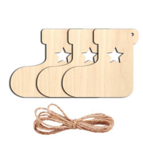 Заготовка для ёлочной игрушки-Сапог с верёвочкой, 70*80мм