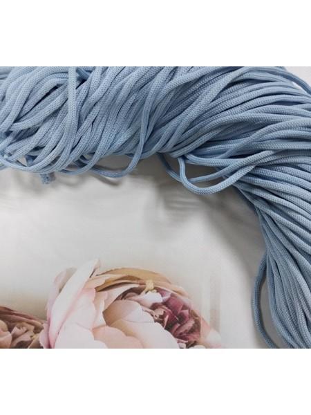 Полиэфирный шнур для вязания,4мм,цв-голубой,100м