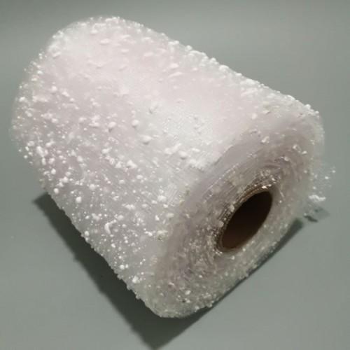 Сетка-снег, цв-белый,15 см,цена за 1 м