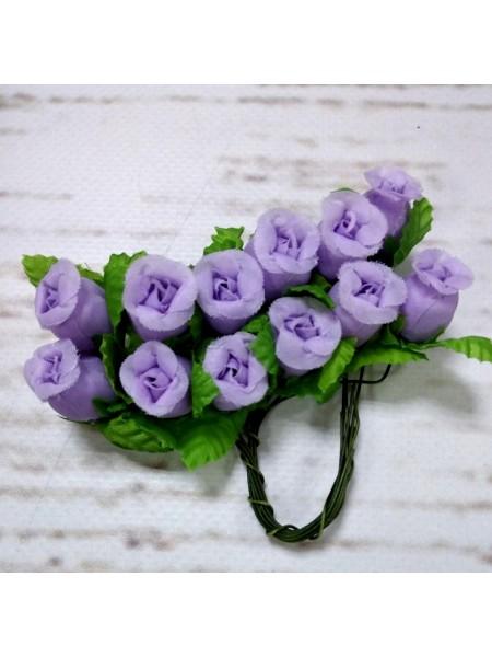 Букетик тканевых розочек,цвет фиолетовый