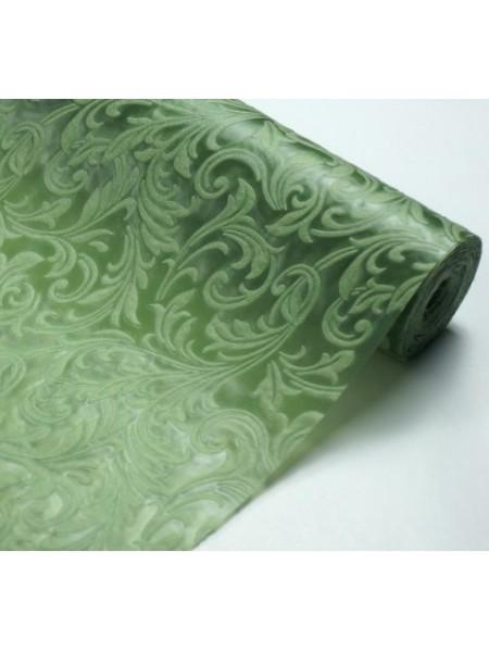 Фетр с тиснением(3D фетр),зелёный,рис.Ирис , цена за 1 метр