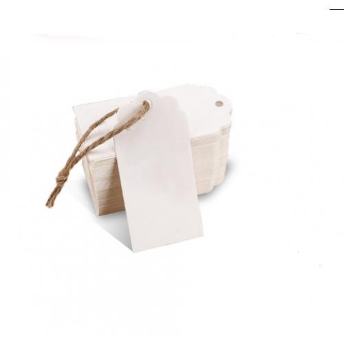 Набор белых тэгов 40*70 мм,цена за 10шт