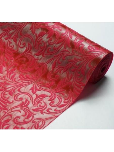 Фетр с тиснением(3D фетр),бордо,рис.Ирис , цена за 1 метр