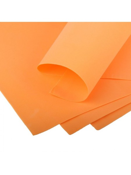 Зефирный фоамиран.оранжевый, 50*50 см