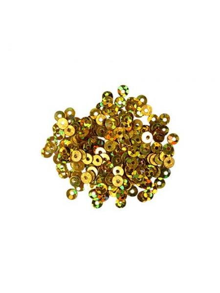 Пайетки плоские -3 мм,10гр,цвет-золото голограмма А100-20