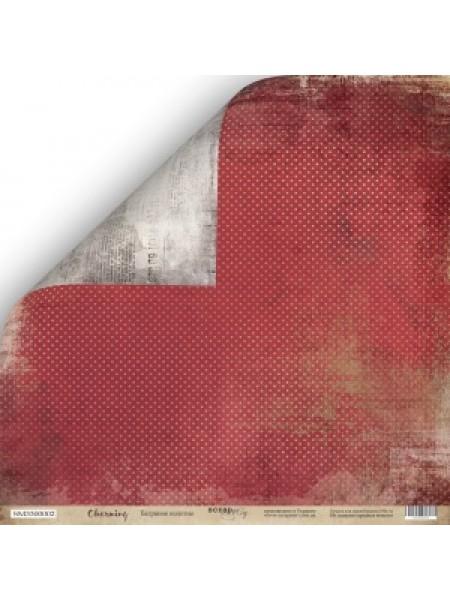 Лист двусторонней бумаги 30x30 от Scrapmir Багряное Полотно из коллекции Charming (Очарование)