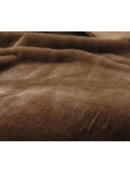 "Мех ""Мутон"", средний ворс (50 см*56 см) 100%п/э,цв.коричн"