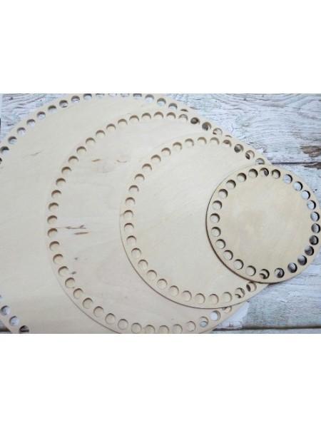 Деревянное донышко для корзины,круглое, D-10 см