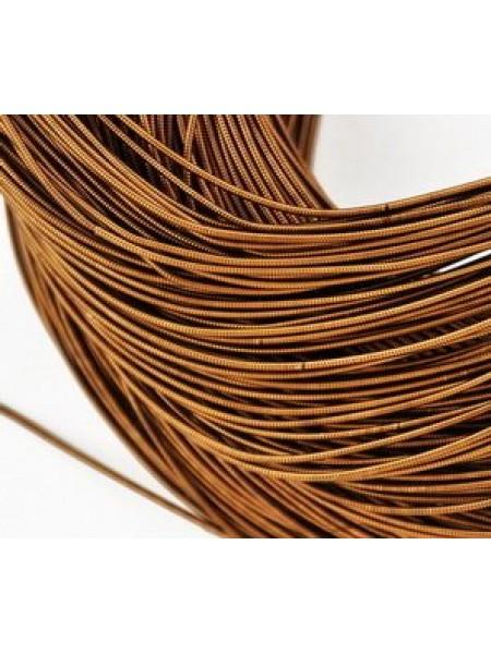 Канитель гладкая ,цвет-античное коричневый1 мм- 5 гр,№158