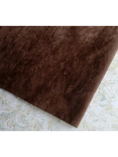 Искусственная замша,18*35см,цв-тёмно-коричневый