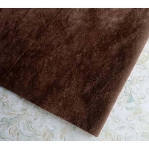 Искусственная замша,50*35см,цв-тёмно-коричневый
