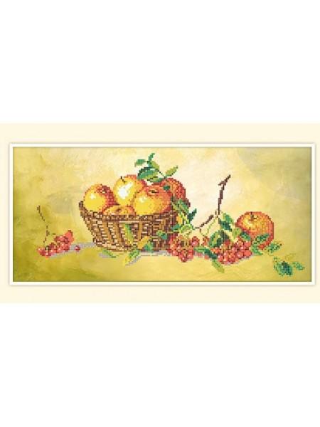 """Набор для вышивки бисером """"Натюрморт с яблоками""""-РСН-327"""