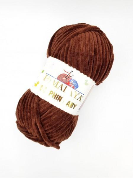 Плюшевая пряжа Долфин Бэби,цв-шоколад,№336,100гр