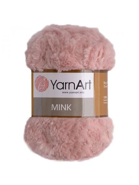 Пряжа YARNART-MINK(Минк),имитация меха.цв-пыльная роза,№341