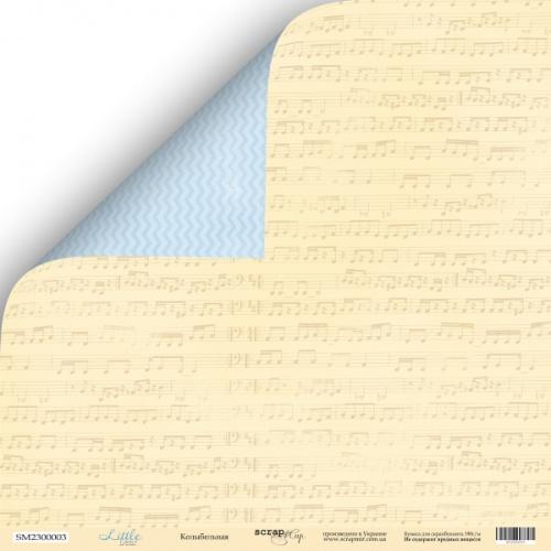 Лист двусторонней бумаги 30x30 от Scrapmir Колыбельная из коллекции Little Bear