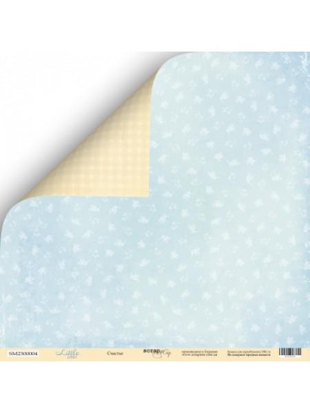 Лист двусторонней бумаги 30x30 от Scrapmir Счастье из коллекции Little Bear