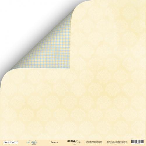Лист двусторонней бумаги 30x30 от Scrapmir Дамаск из коллекции Little Bear