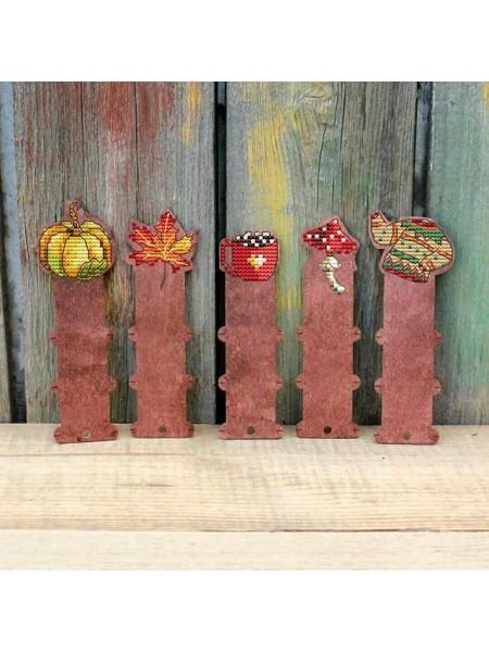 """Набор бобинок под вышивку """"Осень"""",цвет-палисанд,Размер 14,3*4,8см"""