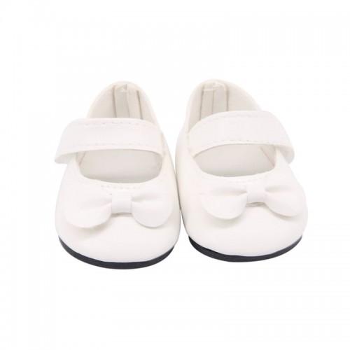 Туфельки  белые с бантиком ,6,5см