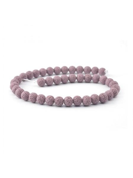 Бусины из лавы.цв-фиолетовый,12 мм, цена за 4 шт