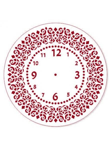 Трафарет пластиковый, многоразовый-часы,25см