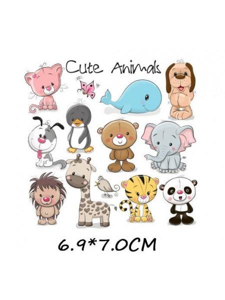 Наклейки кукольные-  Набор животных-микро,цена за набор