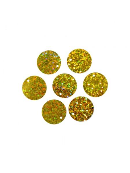 Пайетки крупные,20мм,10гр,цв- золото голограмма, А300-20