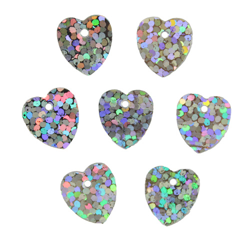 Пайетки Сердечки,10гр,цв серебро голограмма, А500-12