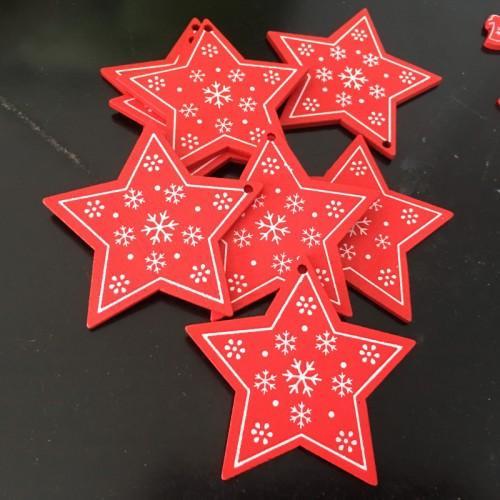Подвеска новогодняя-Звезда красная