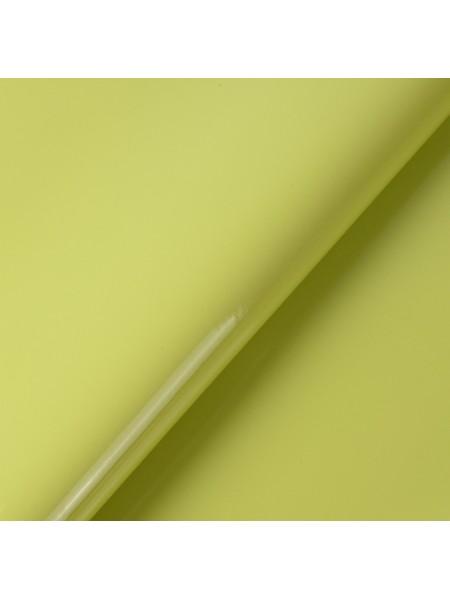 Искусственный лакированный кожзам, цв-желто-зелёный, 23*32 см