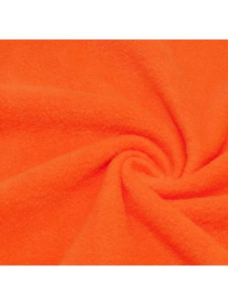 Флис оранжевый,50*50см