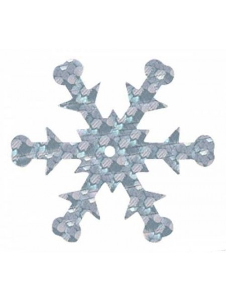 Пайетки 'снежинки',цв- серебро-голограмма,24 мм А476-1