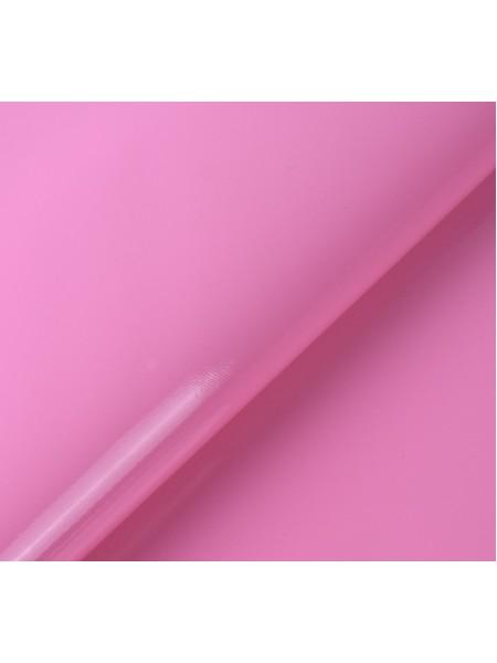 Искусственный лакированный кожзам, цв-розовый, 23*32 см