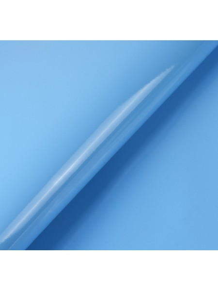 Искусственный лакированный кожзам, цв- голубой, 23*32 см