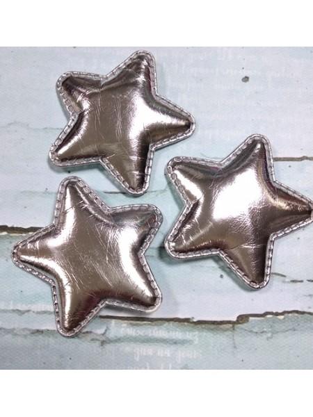 Декоративный элемент(панч)-звезда серебряная