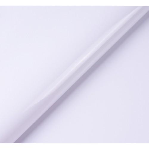 Искусственный лакированный кожзам, цв- белый,  32*46 см