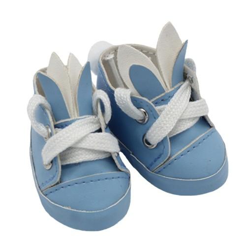 Туфли-зайки,голубые,5,5см,цена за пару