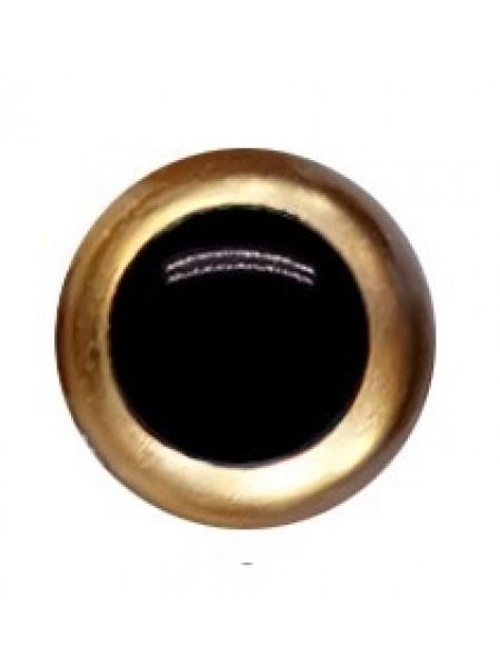 Глазки безопасные,,цв-золото,16 мм,цена за пару