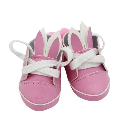 Туфли-зайки,розовые,5,5см,цена за пару