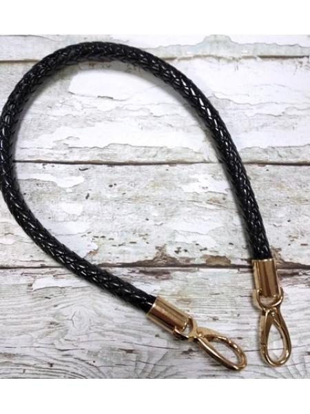 Ручка для сумки.плетёная,цв-черный, 60см. цена за 1 шт