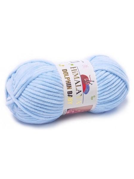 Плюшевая пряжа Долфин Бэби,цв-Голубой,№306,100гр