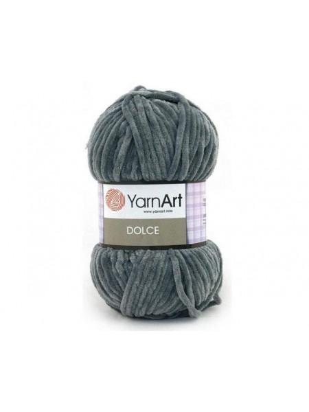 Плюшевая пряжа Dolce YarnArt ,№760,цв-темно-серый,100гр