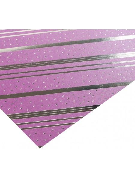 Бумага жемчужная с фольгированием серебром «Сюрприз для тебя», 20 х 20 см, цена за 1 лист