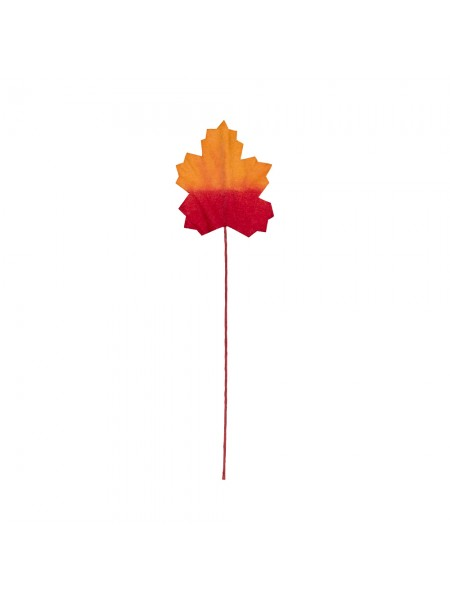 """Декоративные элементы  """"Кленовые листья"""",цв-красно-оранжевый,уп-12 шт"""